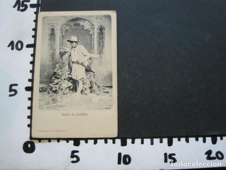 Postales: INDIO DE ATITLAN-FOTO A.VALDEVELLANO-REVERSO SIN DIVIDIR-POSTAL ANTIGUA-(74.353) - Foto 5 - 220297895