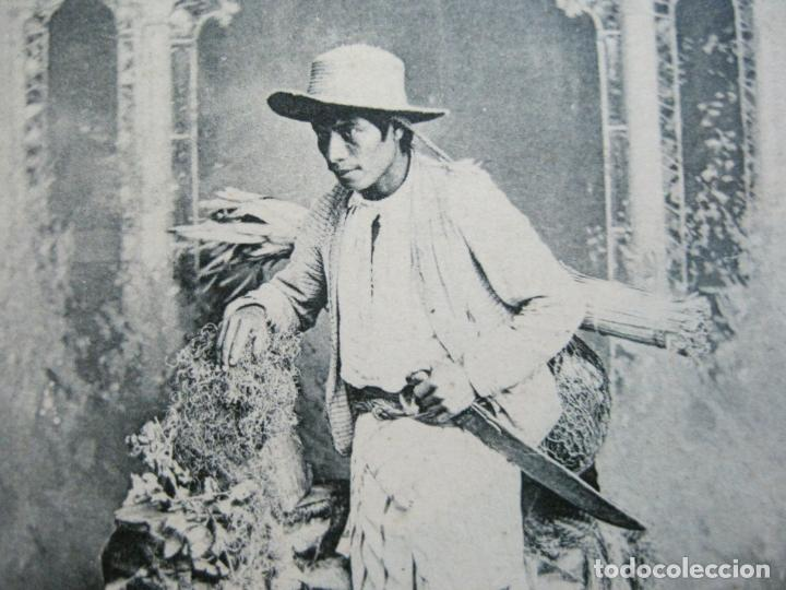 INDIO DE ATITLAN-FOTO A.VALDEVELLANO-REVERSO SIN DIVIDIR-POSTAL ANTIGUA-(74.353) (Postales - Postales Temáticas - Étnicas)