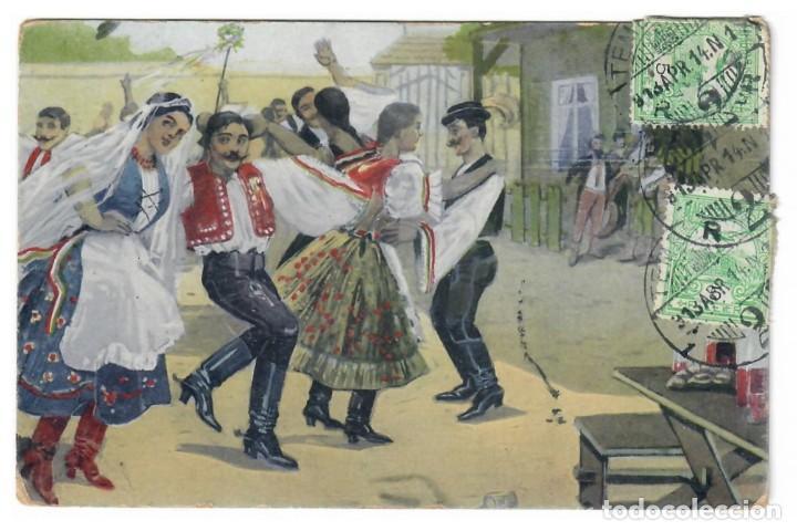 POSTAL ANTIGUA DE HUNGRIA (Postales - Postales Temáticas - Étnicas)