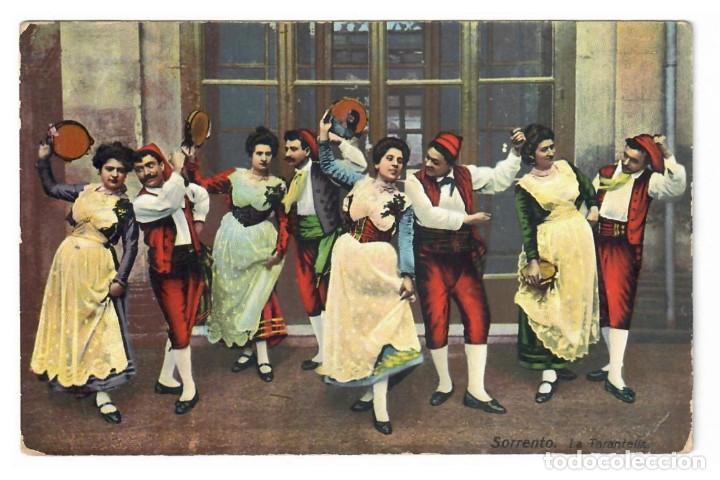SORRENTO - LA TARANTELLA (1914) (Postales - Postales Temáticas - Étnicas)