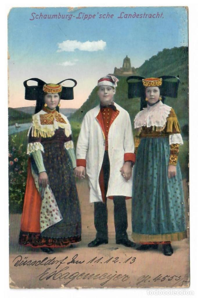 SCHAUMBURG - LIPPE'SCHE LANDESTRACHT (1913) (Postales - Postales Temáticas - Étnicas)