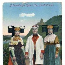 Postales: SCHAUMBURG - LIPPE'SCHE LANDESTRACHT (1913). Lote 221840996