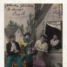 Postales: ESCENAS GITANAS. FRANQUEADA EL 13 DE OCTUBRE DE 1905.. Lote 222055362