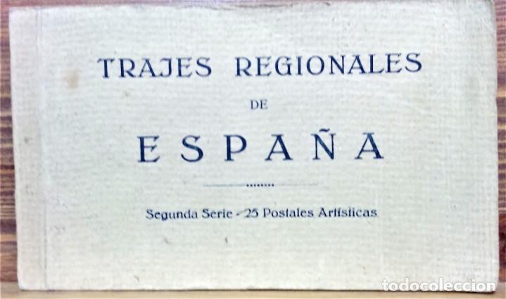 TRAJES REGIONALES DE ESPAÑA.ANTIGUO ÁLBUM COMPLETO.25 POSTALES ARTÍSTICAS.M.PALOMEQUE (Postales - Postales Temáticas - Étnicas)