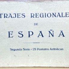 Postales: TRAJES REGIONALES DE ESPAÑA.ANTIGUO ÁLBUM COMPLETO.25 POSTALES ARTÍSTICAS.M.PALOMEQUE. Lote 222147725