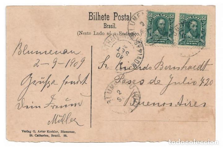 Postales: 1909 - BLUMENAU (BRASIL) - RANCHO EN LA SELVA VIRGEN - Foto 2 - 222182207