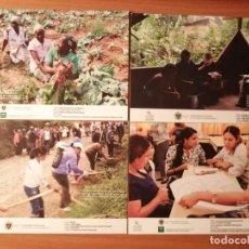 Postales: 4 POSTALES UNIVERSIDAD GRANADA, COLABORACIÓN SOCIAL EN ECUADOR, MOZAMBIQUE, REPÚBLICA DOMINICANA. Lote 223360415