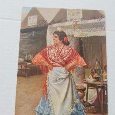 Postales: TIPOS VALENCIANOS CIRCULADA Y FECHADA 1908 BUEN ESTADO. Lote 225169987