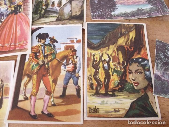 Postales: LOTE DE 14 POSTALES COSTUMBRISTAS AÑOS 50 sin utilizar - Foto 4 - 234509460