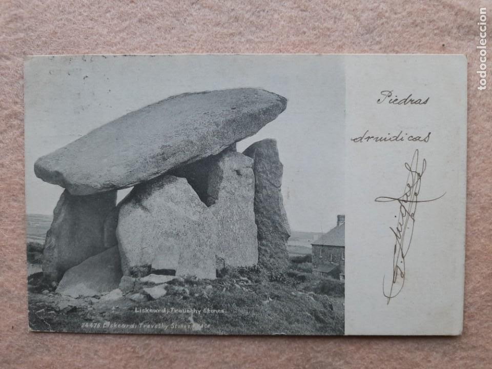 PIEDRAS DRUÍDICAS. FRANQUEADA EL 13 DE FEBRERO DE 1903. (Postales - Postales Temáticas - Étnicas)