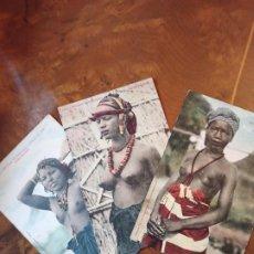 Postales: LOTE 3 POSTALES DESNUDO ERÓTICO ÁFRICA COLECCIÓN GENERALE FORTIER. Lote 237032040
