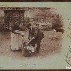 Postales: HISTORIA DEL PAN 1ª, FOTO LAURENT, MADRID Nº 10 EL PANADERO, CIRCULADA Y SIN DIVIDIR. MUY RARA. Lote 239476560