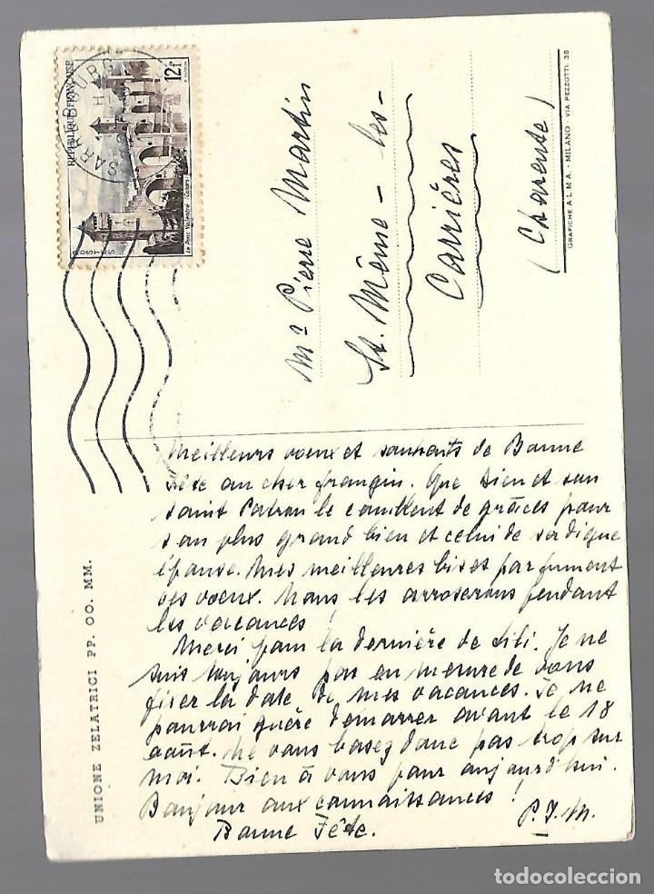 Postales: 1R- POSTAL ANTIGUA DE - UNA NIÑA - CIRCULADA AÑOS 50 - Foto 2 - 239988975