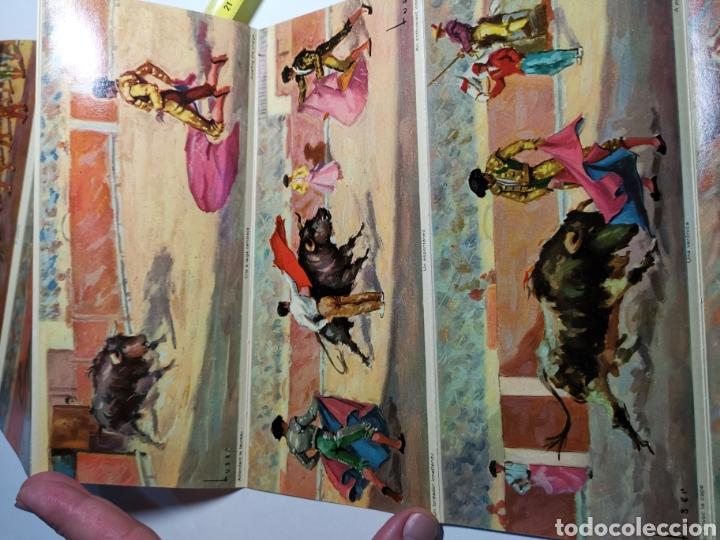 Postales: Álbum de 10 postales Una corrida de Toros en Visionscope. Bull Fight - Foto 5 - 240015205