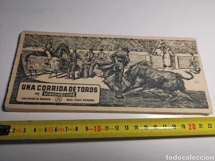 ÁLBUM DE 10 POSTALES UNA CORRIDA DE TOROS EN VISIONSCOPE. BULL FIGHT (Postales - Postales Temáticas - Étnicas)