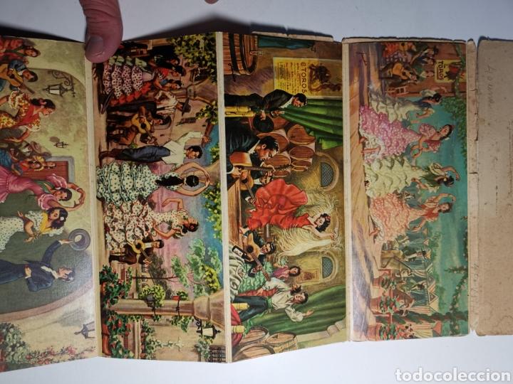 Postales: Álbum colección de 10 postales alargadas Danzas de Andalucía, Visionscope - Foto 7 - 240059305