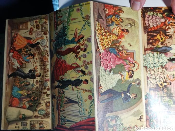 Postales: Álbum colección de 10 postales alargadas Danzas de Andalucía, Visionscope - Foto 8 - 240059305