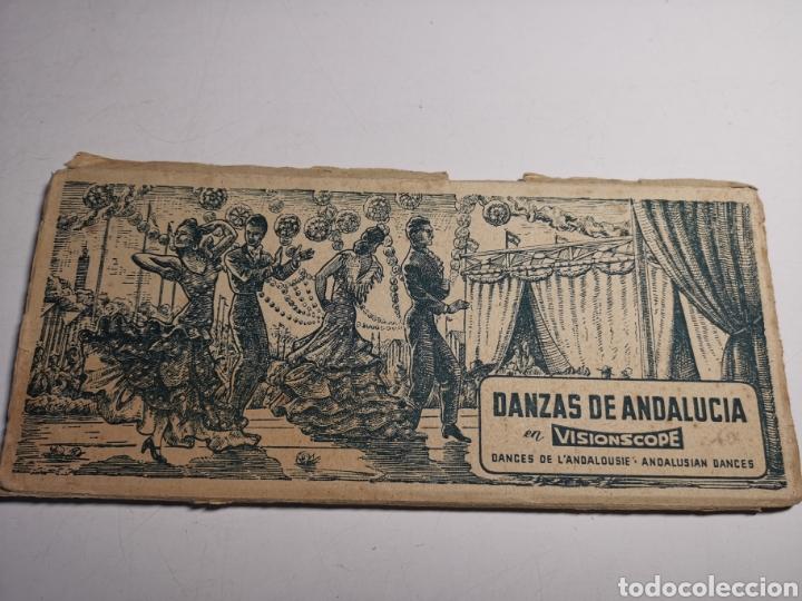 ÁLBUM COLECCIÓN DE 10 POSTALES ALARGADAS DANZAS DE ANDALUCÍA, VISIONSCOPE (Postales - Postales Temáticas - Étnicas)