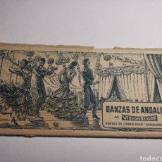 Postales: ÁLBUM COLECCIÓN DE 10 POSTALES ALARGADAS DANZAS DE ANDALUCÍA, VISIONSCOPE. Lote 240059305