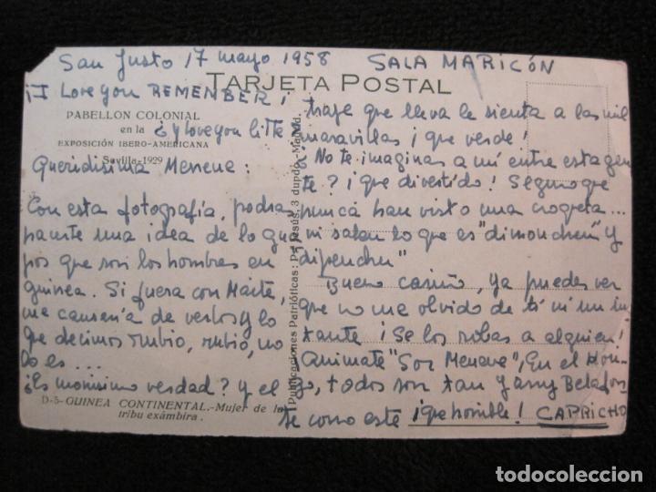 Postales: GUINEA CONTINENTAL-MUJER DE LA TRIBU EXAMBIRA-POSTAL ANTIGUA-(77.581) - Foto 2 - 241113065