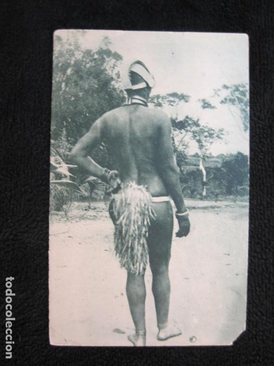 GUINEA CONTINENTAL-MUJER DE LA TRIBU EXAMBIRA-POSTAL ANTIGUA-(77.581) (Postales - Postales Temáticas - Étnicas)