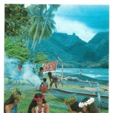 Postales: TAHITI - HEL TIARE, FLOWERS OF TAHITIN, COURONNEUSES - POSTAL NO ESCRITA. TEVA SYLVAIN CS 1058. Lote 241138625