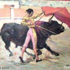 Postales: TAUROMAQUIA. 16 PASE DE PECHO. B. SIRVEN.. Lote 241505990