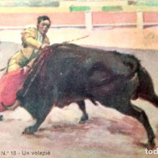 Postales: TAUROMAQUIA. 18 UN VOLAPIÉ. B. SIRVEN. NUEVA. COLOR. Lote 241505995
