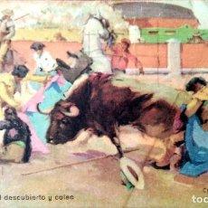 Postales: TAUROMAQUIA. 10 CAÍDA AL DESCUBIERTO Y COLEO. B. SIRVEN.. Lote 241506000