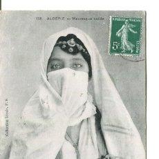 Postales: JOVEN ÁRABE CON VELO DE ARGELIA- AÑO 1908. Lote 247567405