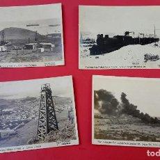 Postales: PETROLEO - ARGENTINA - 1910'S - FOTOGRAFIA KOHLMANN - 4 POSTALES FOTOGRÁFICAS. Lote 251954955