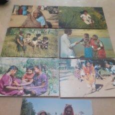 Postales: LOTE 7 POSTALES ANTIGUAS ESCENAS TÍPICAS INDIA/ PAKISTÁN REF222. Lote 253455765