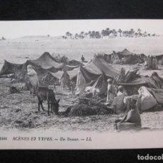 Postales: HOMBRES NIÑOS MUJERES EN UN CAMPAMENTO-TIPO ARABE-TIPO ORIENTE-EDICION LL-POSTAL ANTIGUA-(79.772). Lote 255005550