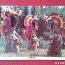 Postales: POST CARD CARTE POSTALE POSTKARTE CANADÁ CANADIANS INDIANS INDIOS CANADIENSES TRIBAL DANCE BAILE..... Lote 259763420