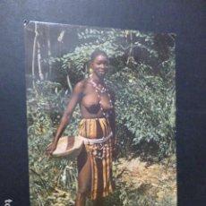 Postales: AFRICA POSTAL ETNICA MUJER SEMIDESNUDA. Lote 260769915
