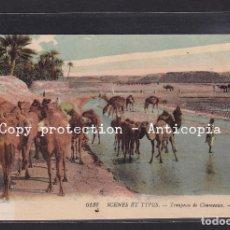Postales: POSTAL DE ARGELIA - 6132 SCENES ET TYPES - TROUPEAU DE CHAMEAUX. (CAMELLOS). Lote 263131805