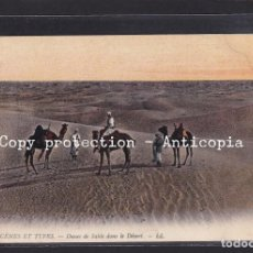 Postales: POSTAL DE ARGELIA - 6046 SCENES ET TYPES - DUNES DE SABLE DANS LE DÉSERT (CAMELLOS). Lote 263167420