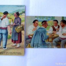 Postales: P-12754. JOSÉ ARRÚE. 2 POSTALES VASCAS. EDITORIAL FHER. COLOREADAS. SIN CIRCULAR.. Lote 267595784