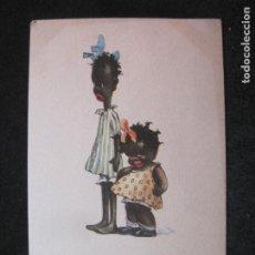 Postales: ASSORTED CHOCOLATES-NIÑOS NEGROS-POSTAL ANTIGUA-(81.455). Lote 267655864