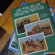 Postales: LAS MAS BELLAS TARJETAS POSTALES, HISTORIA DEL OESTE, CON 24 POSTALES. Lote 268607279