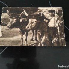 Postales: POSTAL TYPE BASQUE / BASERRITARRA CON BUEYES / YOBLED. Lote 272390093