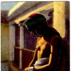 Postales: MORA EN MEDITACIÓN (MARRUECOS) - FOTO: LEHNERT & LANDROCK Nº 40 - COLOREADA - 141X91 MM.. Lote 278476513