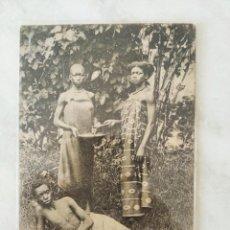 Cartoline: TARJETA POSTAL TIPOS Y BELLEZAS DEL PAÍS. GUINEA ESPAÑOLA. INDIGENAS DE CORISCO. Lote 278674863