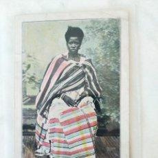 Postales: TARJETA POSTAL TIPOS Y BELLEZAS DEL PAÍS. GUINEA ESPAÑOLA. TIPO DE SAN PABLO DE LOANDA (ANGOLA). Lote 278868493