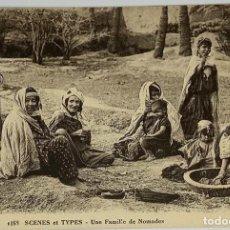 Postales: ESCENAS Y TIPOS, UNE FAMILIE DE NOMADES FOTOTIPIA CAP 1168 SIN CIRCULAR.. Lote 280608988
