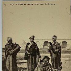 Postales: ESCENAS Y TIPOS, CHARMEUR DE SERPENTS (ENCANTADOR DE SERPIENTES). FOTOTIPIA CAP 1199 SIN CIRCULAR.. Lote 280609148