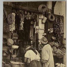 Postales: ESCENAS Y TIPOS, UNE BOUTIQUE ARABE, FOTOTIPIA CAP 1060 SIN CIRCULAR.. Lote 280609223
