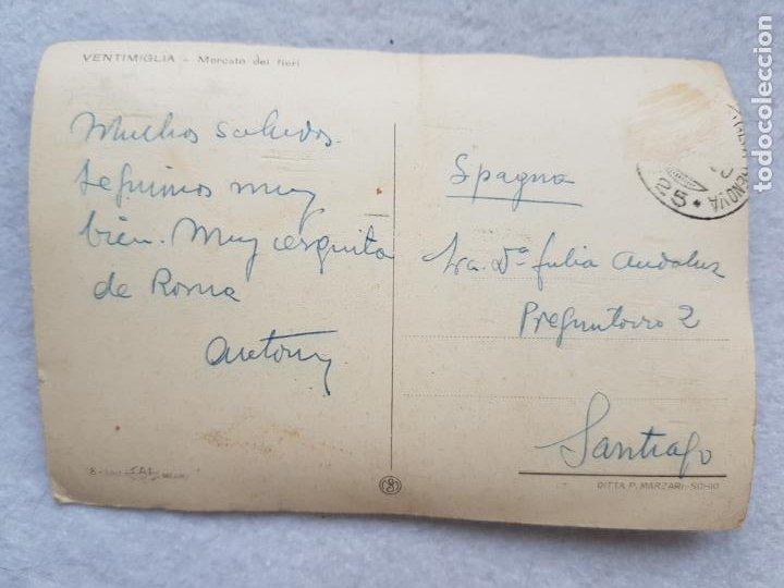 Postales: MERCADO DE LAS FLORES VENTIMIGLIA ITALIA ANIMADA COCHE - Foto 3 - 285092988