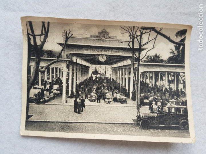 MERCADO DE LAS FLORES VENTIMIGLIA ITALIA ANIMADA COCHE (Postales - Postales Temáticas - Étnicas)