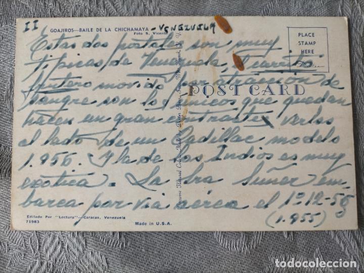 Postales: GOAJIROS - BAILE DE LA CHICHAMAYA - VENEZUELA POSTCARD - Foto 2 - 286499968